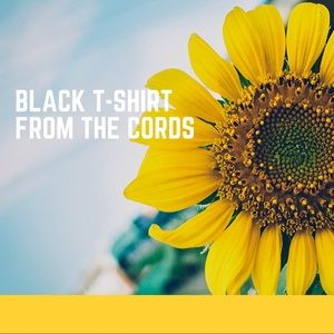 Black Short Sleeve T-shirt The Cords & Co
